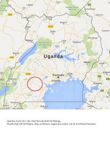 kaart uganda